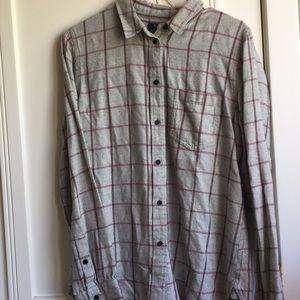 Madewell Tops - Madewell Plaid Flannel Shirt